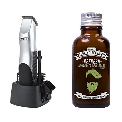 Wahl Battery Groomsman Trimmer with 30 ml Refresh Beard Oil product image