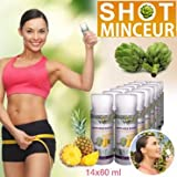 ARTICHOKE SHOTS SLIM - LOT DE 14 FLACONS DE 60 ML