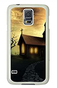 Moon House White Hard Case Cover Skin For Samsung Galaxy S5 I9600 by lolosakes