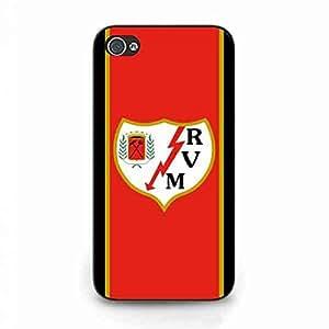 Rayo Vallecano protector Skin Funda, iPhone 4/iPhone 4S TPU Estuche Duro, Rayo Vallecano Estuche Duro For iPhone 4/iPhone 4S Funda, FC Rayo Vallecano Caso De Vuelta