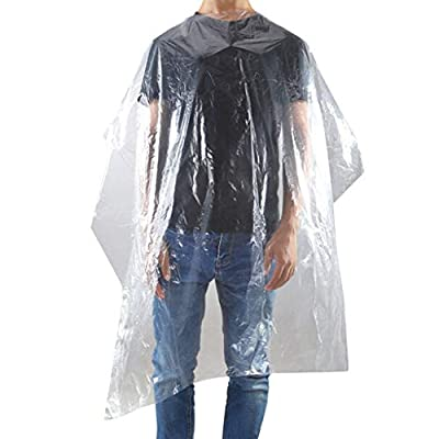 Blingdots Contactless Waterproof Salon Barber Gown-Haircut Cloth Disposable 130 160Cm 100 Pcs, Waterproof Disposable Hair Salon Capes Washing Pads Shampoo Cape: Sports & Outdoors