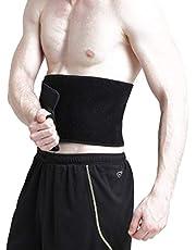 FeiLuo Taille trimmer riem voor vrouwen afslanken body shaper, verstelbare taille trainer & buikstabilisator voor gewichtsverlies en vetverbranding, neopreen zweetriem met sauna-effect