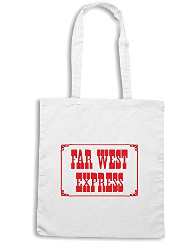 T-Shirtshock - Bolsa para la compra TM0375 Far West Express usa Blanco