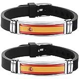 Tanto Badges Pack de 2 x Pulseras de la Bandera de España