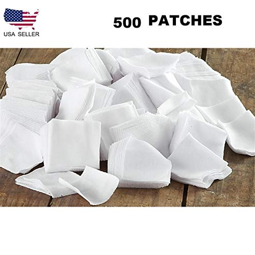 GUN CLEANING PATCH, .38-.45 CALIBER/.410-20-GAUGE CALIBER - 9MM CLEANING PATCHES (500 Pieces)