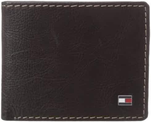 Tommy Hilfiger Men's Leather Logan Double Billfold Wallet
