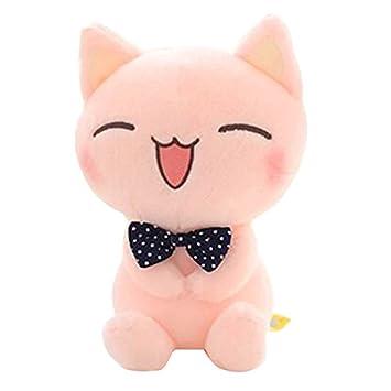 Muñeca Felpa rellena de Gato, Animal de Peluche, Gatito Sonriente Adorable, Altura sentada
