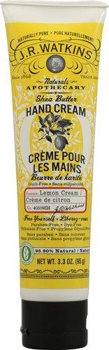 J. R. Watkins Shea Butter Hand Cream Lemon Cream -- 3.3 oz - 3PC (Shea Lemon Watkins Butter Cream)