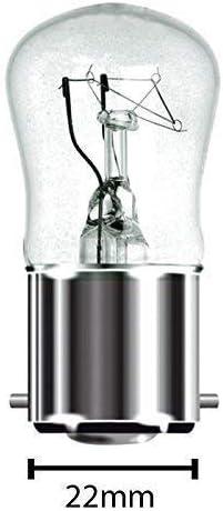 4 x Ampoules pygm/ée culot /à ba/ïonnette BC B22 B22d Transparent 240 V Machine /à coudre//Lampe//veilleuse appareil usage g/én/éral ampoules d/éco brillant