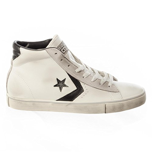 CONVERSE PRO LEATHER VULC MID WHITE BLACK TURTLEDOVE 155096c (36)