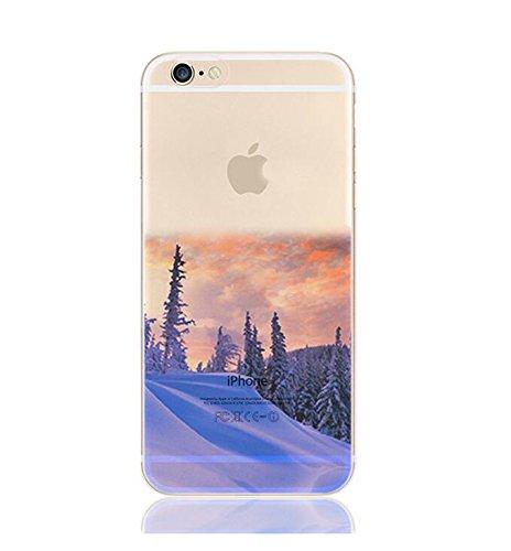 """Étui pour iPhone 6 iPhone 6S TPU, Ruirs Nice coloré d'impression ultra-transparent transparent TPU téléphone étui pour iPhone 6 / 6S 4.7""""(Snow Forest)"""