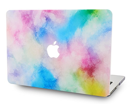 "LuvCase MacBook Pro 13 Case 2017 & 2016 Plastic Hard Shell Cover for MacBook Pro 13.3"" A1706 / A1708 with/without Touch Bar (Mist 5)"