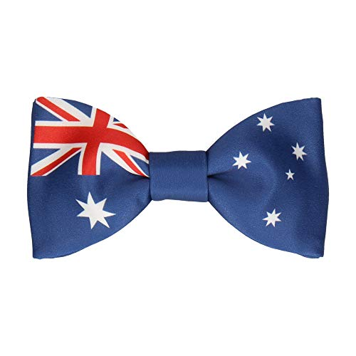 Mrs Bow Tie, Bow Tie with Flags, Pre-Tied Bow Tie - Getting Down Under Accessories