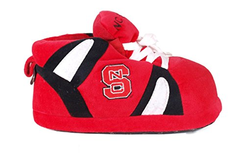 College North Sneaker Womens State Wolf NCAA OFFICIALLY and Pack Happy Feet Men's LICENSED Carolina Slippers q4fA0A