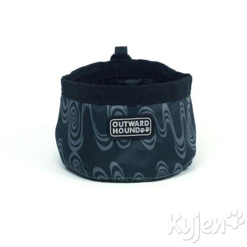Kyjen Outward Hound Port-A-Bowl Fashion Print, Swirl, 48-Ounce, My Pet Supplies