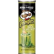 PringlesPotato Crisps Chips, Screamin' Dill Pickle Flavored, 5.5 oz Can