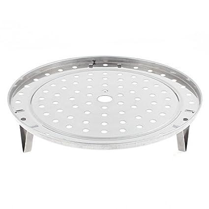 eDealMax redondo de acero inoxidable cocina que cocina vapor del alimento rack 235mm Dia