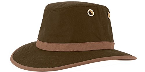Tilley TWC7 Outback Waxed Cotton Hat Olive 73/8
