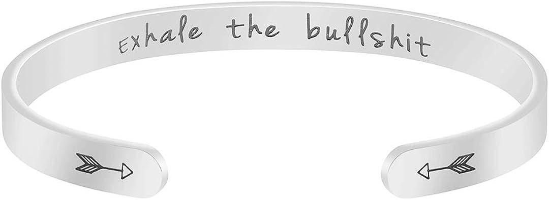 Amazon.com: Joycuff Exhale The Bullshit - Pulsera de yoga ...