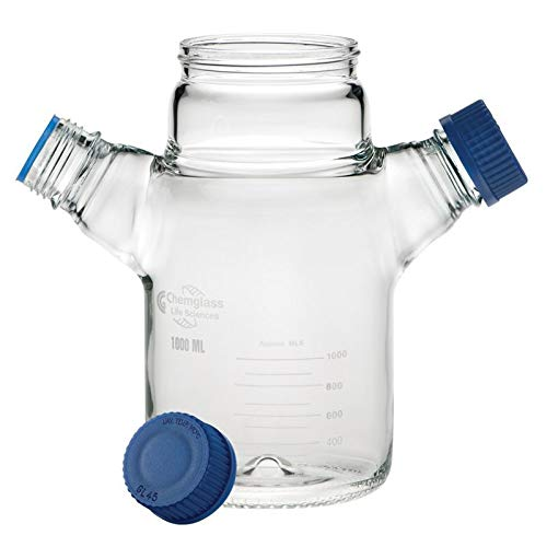 Chemglass CLS-1401-250 Series CLS-1401 Replacement Spinner Flask, Dimpled Bottom, 85 mm OD, 145 mm Height, 250 mL, Glass by Chemglass