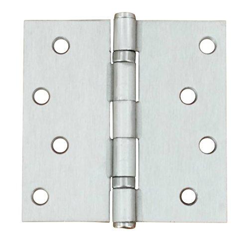 4 inch Satin Nickel Door Hinges - Ball Bearing Exterior - 2 Pack