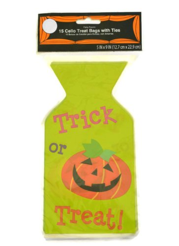 Trick or Treat Halloween Cellophane Treat Bags 15 Count (2 -