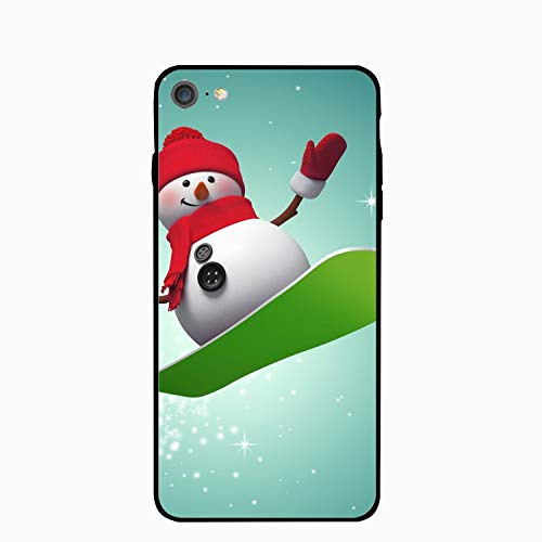 (Personalized Surfing Snowman iPhone 6/6s Case [4.7 inch])