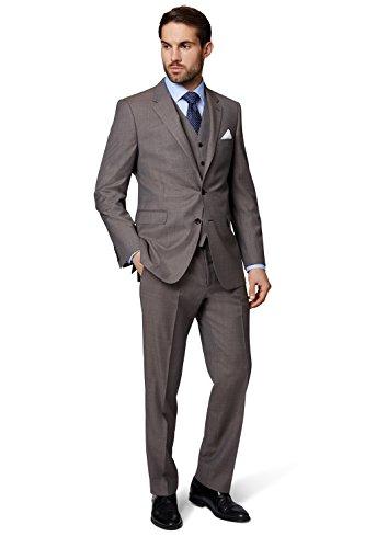 Ermenegildo Zegna Cloth Men's Regular Fit Neutral Semi Plain Suit Jacket 46R - Men Zegna For
