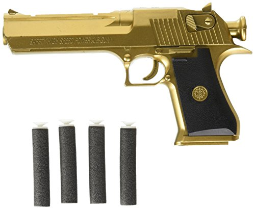 Backyard Blasters Golden Desert Eagle Toy Foam Dart Gun