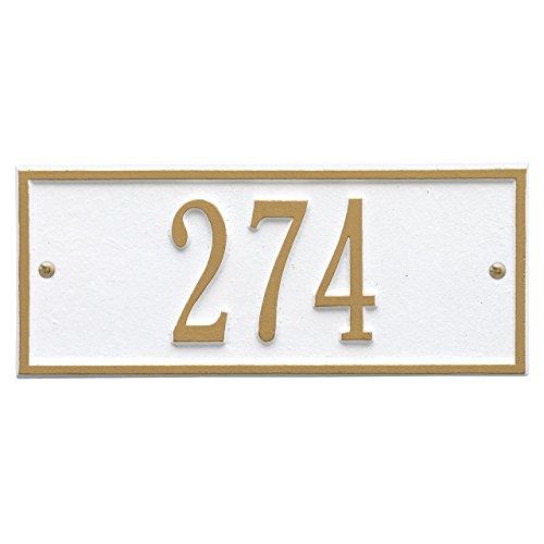 Customized Hartford Mini WALL Aluminum Address Plaque 1 Line 10.5