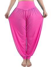 fitglam Women's Harem Pants Loose Casual Lounge Yoga Pants Plus Size Joggers