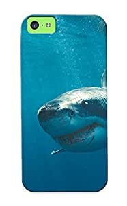 Awesome Case Cover/iphone 5c Defender Case Cover(white Shark ) Gift For Christmas