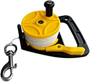 Prettyia Compact 150ft Scuba Dive Reel Kayak Anchor with Thumb Stopper, Single End Bolt Snap for Safety Underw