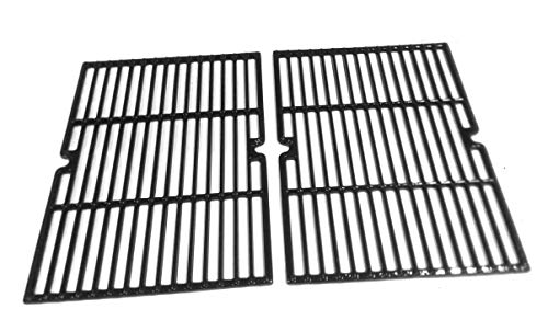 - bbqGrillParts Porcelain Cast Iron Cooking Grid for Coleman 85-3028-6, G52203, Kenmore 16657, 415.16657900, Charbroil 461210010, 463210011, 463212511 Grill Models(Set of 2)