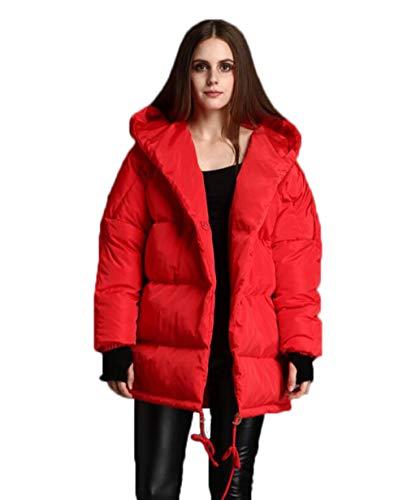 color Larga Chaqueta Plata Invierno Suelta Manga Tamaño Pluma De Largo La Abrigo Con S Red Cortaviento Capucha Jbhurf 7w0f7