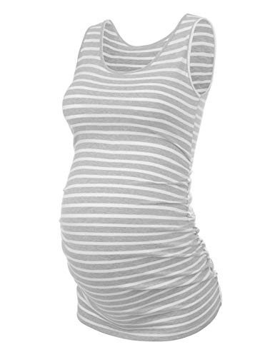 (Maternity Tank Tops Bathing Suit t Shirts Shorts Pregnancy Clothes Women Plus Size 2X 3X (Light Gray White,S))