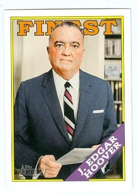 J. Edgar Hoover trading card (FBI Director) 2009 Topps Heritage #47