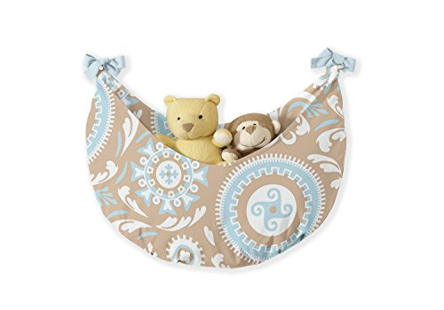 Sweet Jojo Designs 9-Piece Blue and Taupe Hayden Gender Neutral Baby Bedding Girl or Boy Crib Set by Sweet Jojo Designs (Image #3)