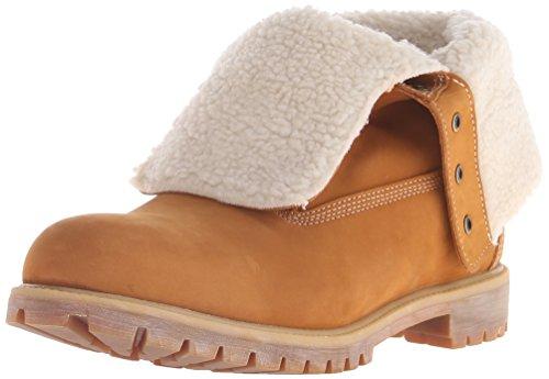 Timberland 6 Pulgadas plegable forrado Winter Boot Wheat Nubuck Warm Lined