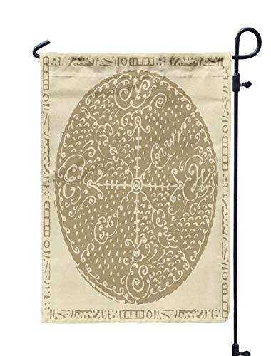 Shorping Welcome Garden Flag, 12x18Inch Wine Wind Rose for Holiday and Seasonal Double-Sided Printing Yards Flags