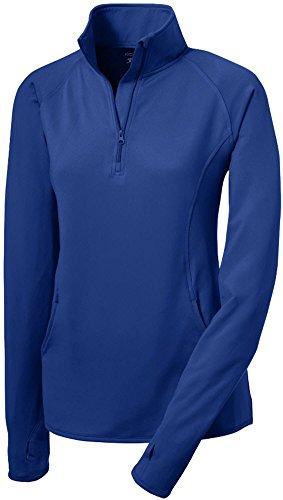 Joe's USA tm - Ladies Moisture Wicking Stretch 1/2-Zip Pullover Sweatshirt- XL