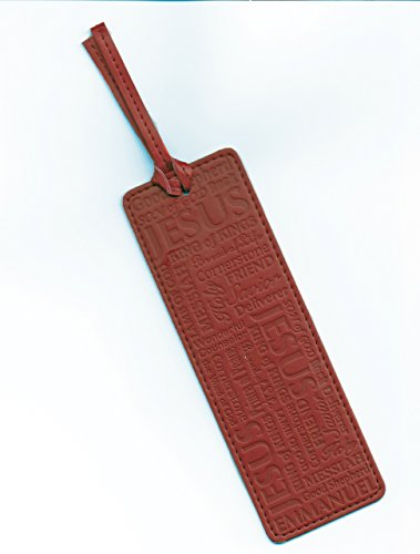 Leather-look Bookmark - Names of Jesus - Red