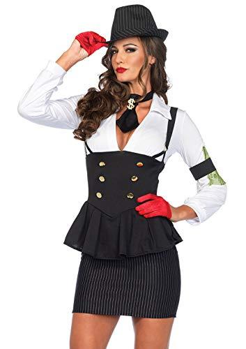 Leg Avenue Women's Machine Gun Molly, Black/White,