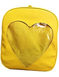 Women Ita Bag Leather Backpack Cute Satchel Candy Color Transparent Grils School Bag