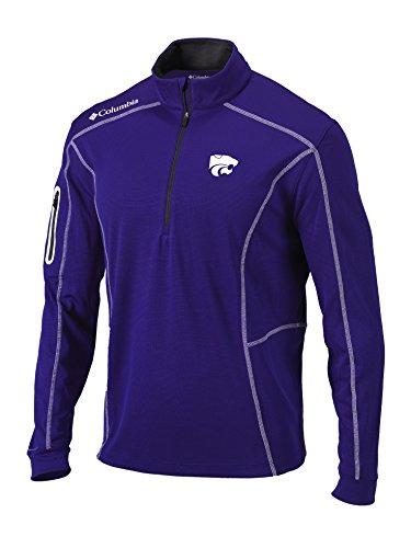 Columbia NCAA Kansas State Wildcats Men's Shotgun 1/4 Zip Top, X-Large, Purple