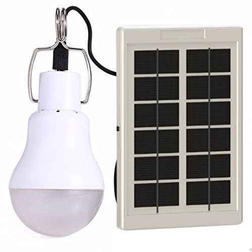 Youcoco Portable LED Solar Bulb Lamp Rechargeable Bulb Solar Energy Lamp by Youcoco