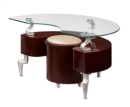 Global Furniture USA 2 Pc Modern End Table with Stool Set
