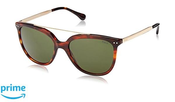 Polo 0PH4135 Gafas de sol, Rectangulares, 54, Havana Striped ...