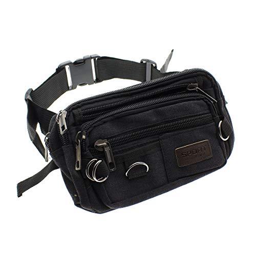 1f925caa7be4 SHOPUS | Black Fanny Pack Bag for Men and Women, Money Belt Bags ...