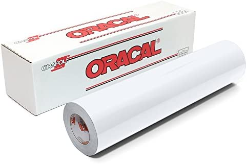 Oracal 651 Glossy Vinyl Roll 24 Inches by 150 Feet - White